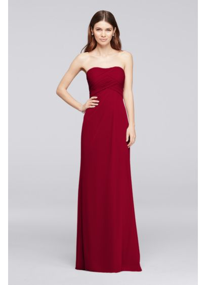 Grey Soft & Flowy David's Bridal Bridesmaid Dress