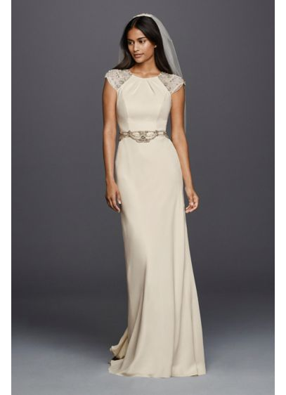 Long Sheath Wedding Dress - Wonder by Jenny Packham