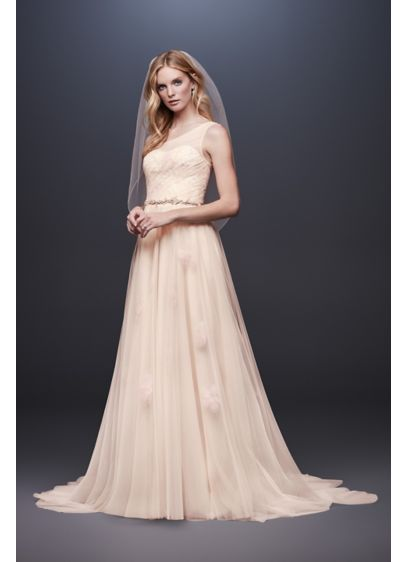 Long A-Line Beach Wedding Dress -