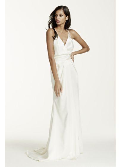 Long Sheath Simple Wedding Dress - Galina Signature