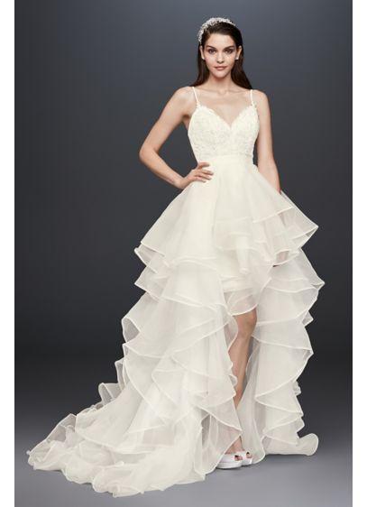 High Low Sheath Glamorous Wedding Dress - Galina Signature