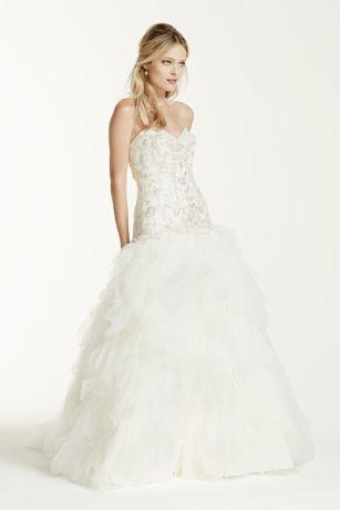 Charming Long Ballgown Formal Wedding Dress   Davidu0027s Bridal Collection