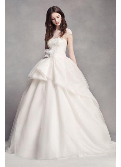 Long Ballgown Modern Chic Wedding Dress - White by Vera Wang