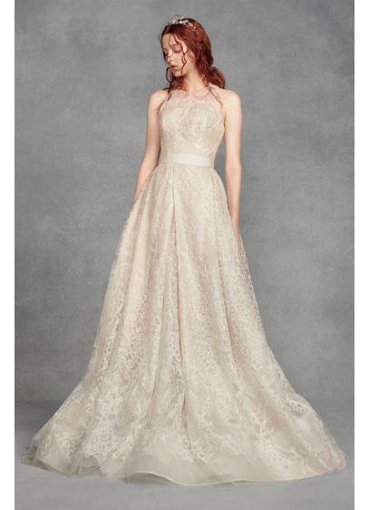 Long A-Line Vintage Wedding Dress - White by Vera Wang