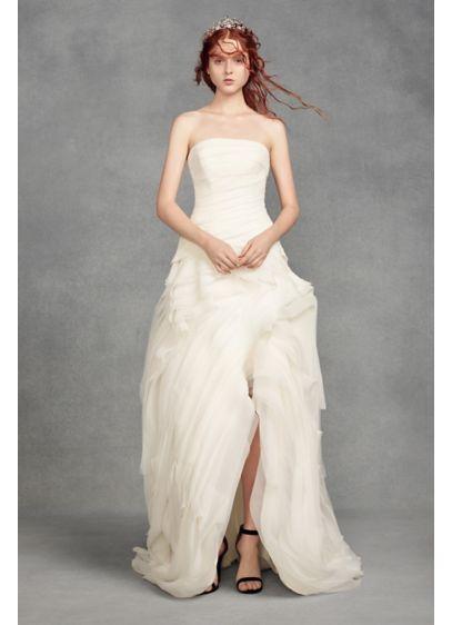 High Low A-Line Beach Wedding Dress - White by Vera Wang