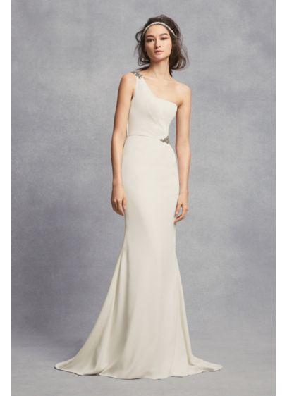 Long Sheath Simple Wedding Dress - White by Vera Wang