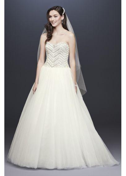Jewel Tulle Wedding Dress with Crystal Bodice 4XLWG3754