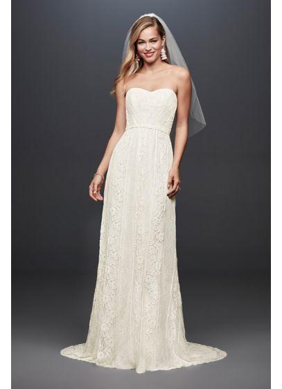 Long Sheath Casual Wedding Dress - Galina