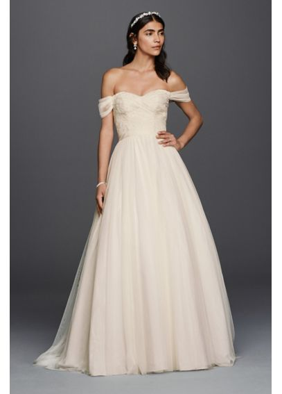 Tulle Beaded Lace Sweetheart Wedding Dress  4XLWG3785