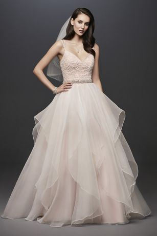 Lace English Rose Ball Gown Wedding Dress - This Garza ball gown features an encrusted ballerina