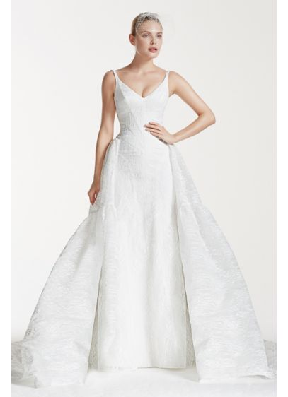 Truly zac posen tank v neck lace wedding dress david 39 s for Zac posen wedding dress price