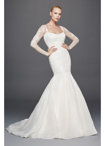 Truly zac posen mermaid extra length wedding dress david for Zac posen wedding dress price