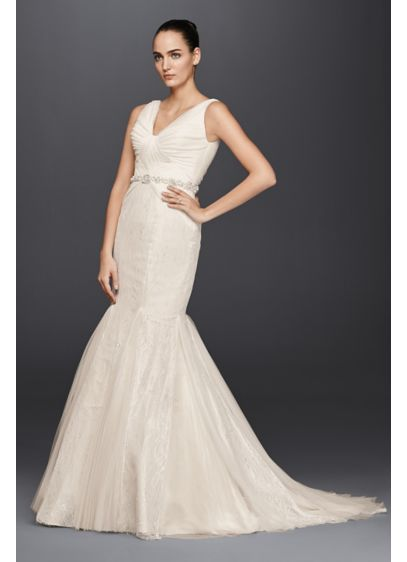 Truly zac posen hand beaded mermaid wedding dress david for Zac posen wedding dress price