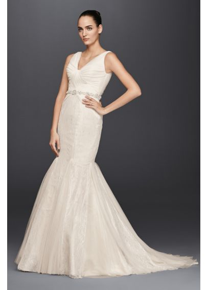 Truly Zac Posen Hand Beaded Mermaid Wedding Dress 4XLZP341677