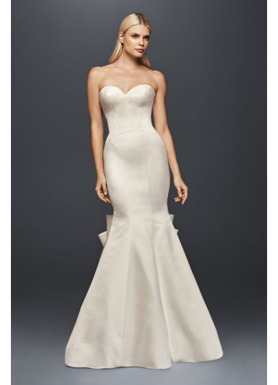 Truly zac posen detailed back satin wedding dress david for Zac posen wedding dress price