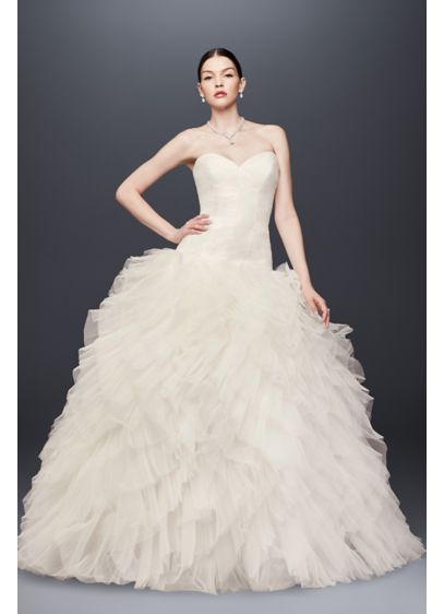 Truly zac posen tulle plus size wedding dress david 39 s bridal for Zac posen wedding dress price