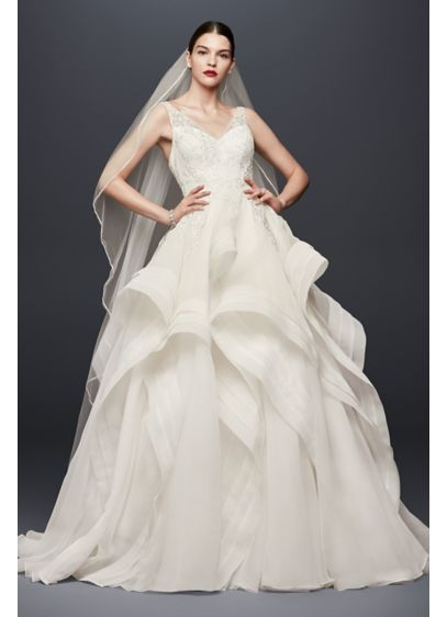 Truly zac posen horsehair skirt wedding dress david 39 s bridal for Zac posen wedding dress price