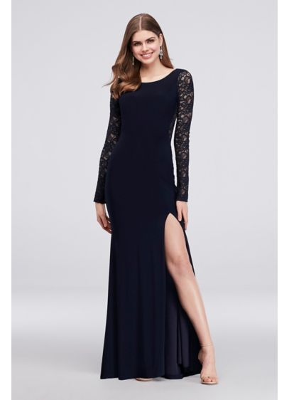 Long Sheath Long Sleeves Formal Dresses Dress - My Michelle
