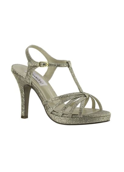 Dyeables Beige (Strappy T-Strap High Heel Sandal)