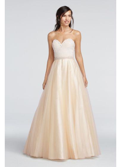 Long Ballgown Strapless Quinceanera Dress - Sean Collections