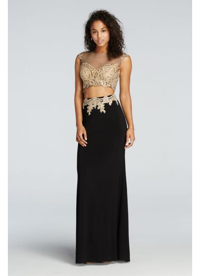 Long Sheath Cap Sleeves Prom Dress - Sean Collections