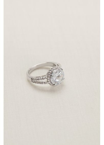 Round Crystal Pave Ring 51773BDA