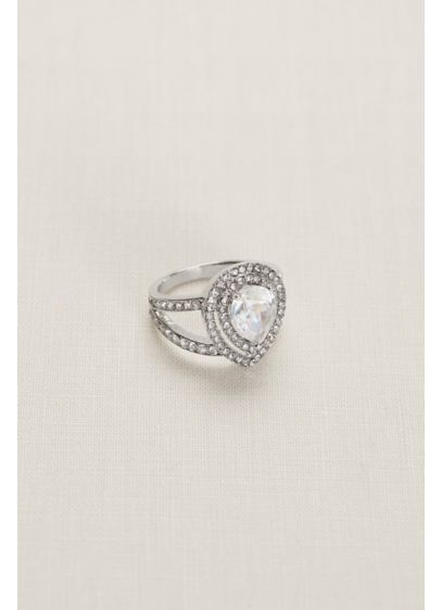Pear Crystal Pave Ring - Wedding Accessories