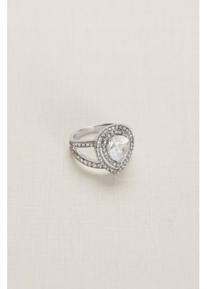 Pear Crystal Pave Ring 51826BDA