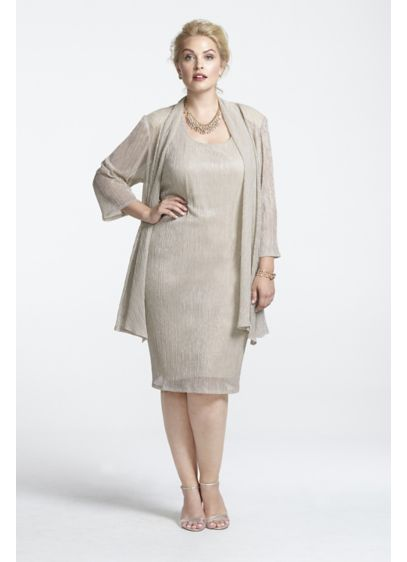 Short Sheath Jacket Cocktail and Party Dress - RM Richards