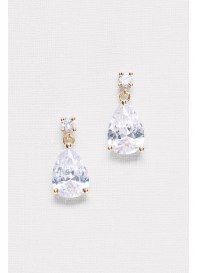 p earrings stone kors s pear zirconia cubic drop runway michael
