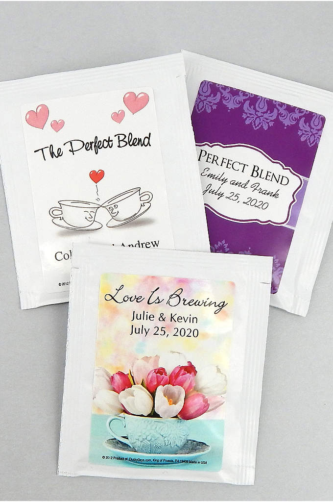 Personalized Classic Wedding Designs Tea Favors - Personalized Tea wedding favors bring a unique flair
