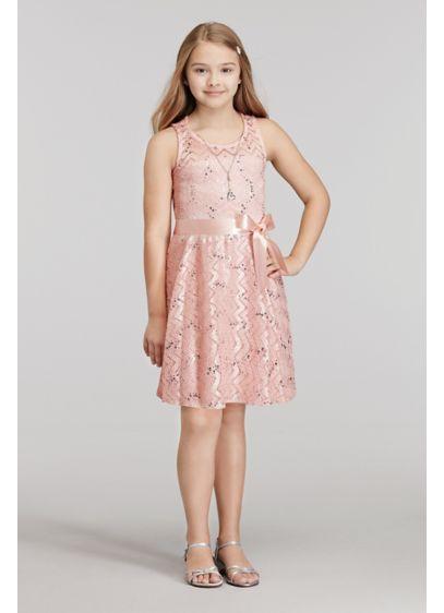 Short Pink Soft & Flowy Sophia Christina Bridesmaid Dress