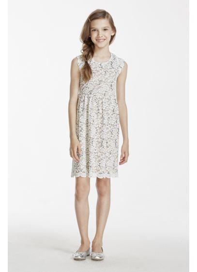 Short Ivory Soft & Flowy Sophia Christina Bridesmaid Dress