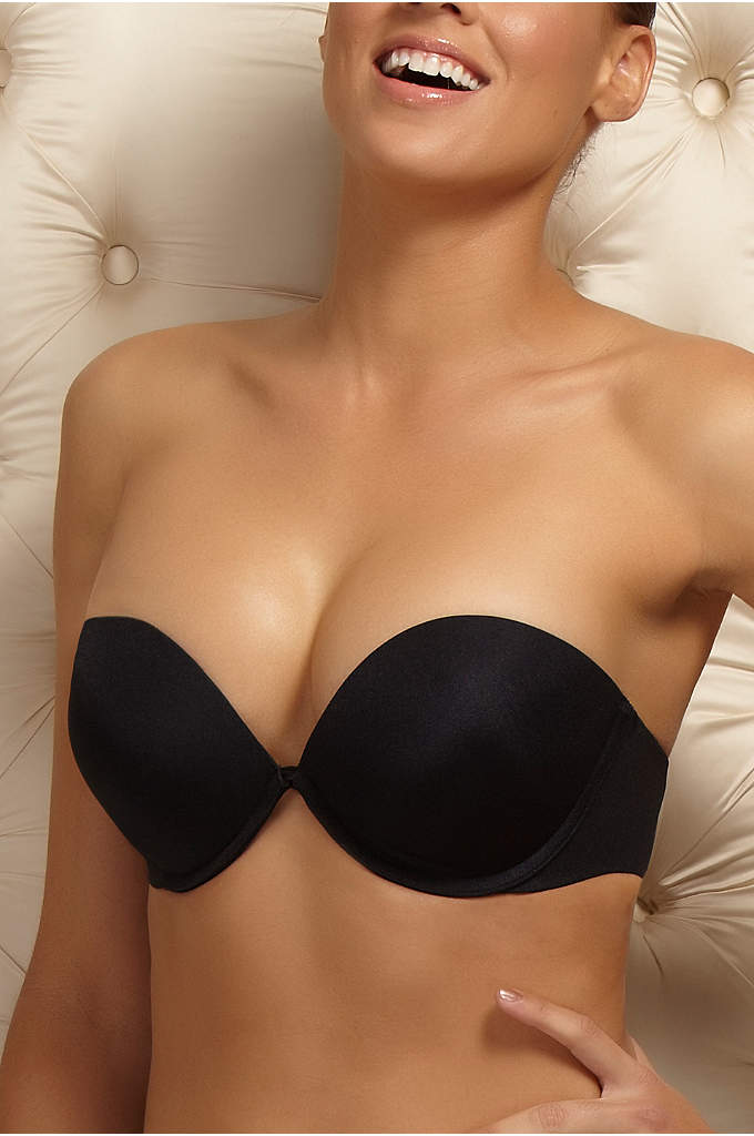Felina Bra of the Year Convertible Strapless Bra - A deep-plunge convertible strapless bra, featuring contoured, padded,