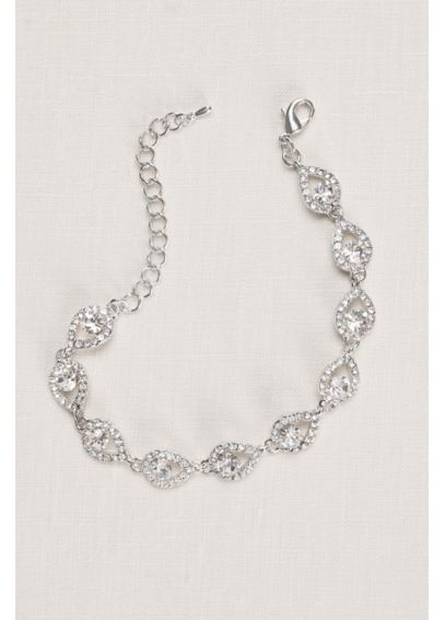 Teardrop and Pave Link Bracelet 53621BDA
