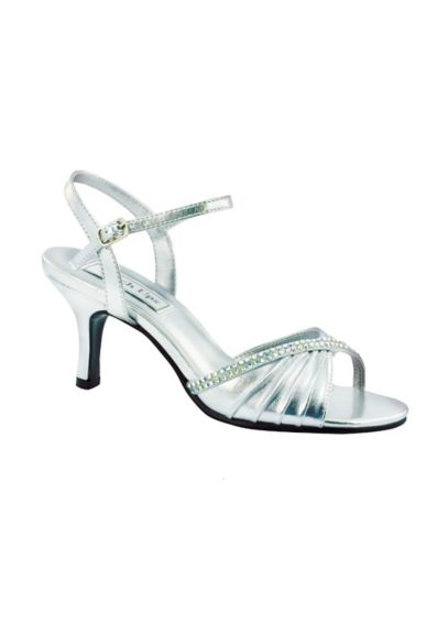 Val Metallic Quarter Strap Sandal with Crystal 539