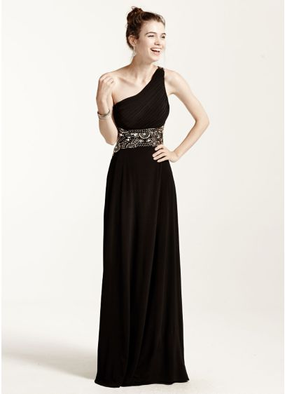 Long A-Line One Shoulder Prom Dress - Blondie Nites