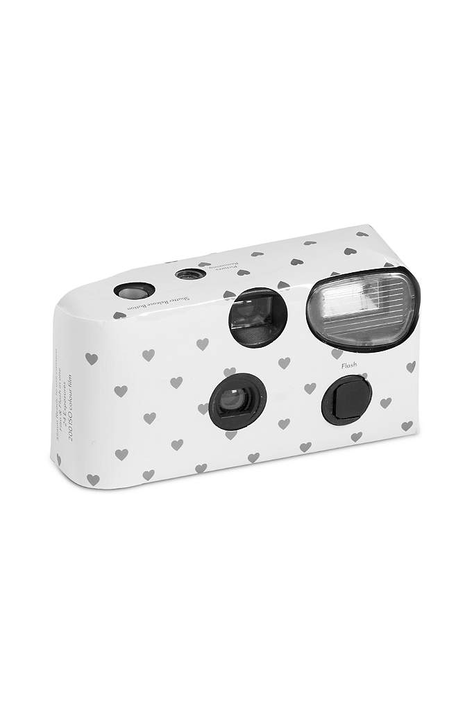 Heart Design Single Use Disposable Wedding Camera - This disposable 24-exposure camera with flash is great