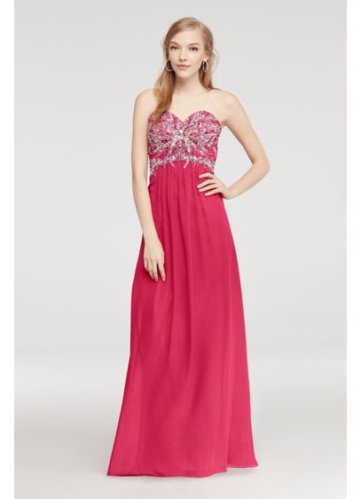 Long A-Line Strapless Prom Dress - Jump