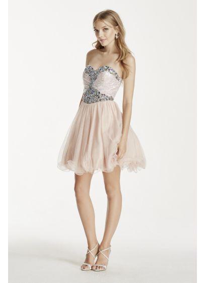 Short Ballgown Strapless Quinceanera Dress - Blondie Nites
