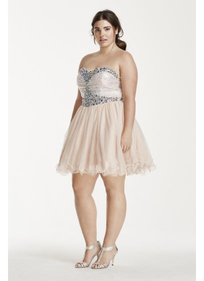 Short Ballgown Strapless Quinceanera Dress - Blondie Nites