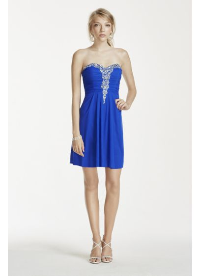 Short A-Line Strapless Cocktail and Party Dress - Blondie Nites