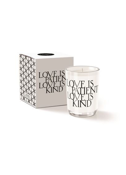 White (Love is Patient Love is Kind Candle)