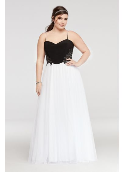 Long Ballgown Spaghetti Strap Quinceanera Dress - Blondie Nites