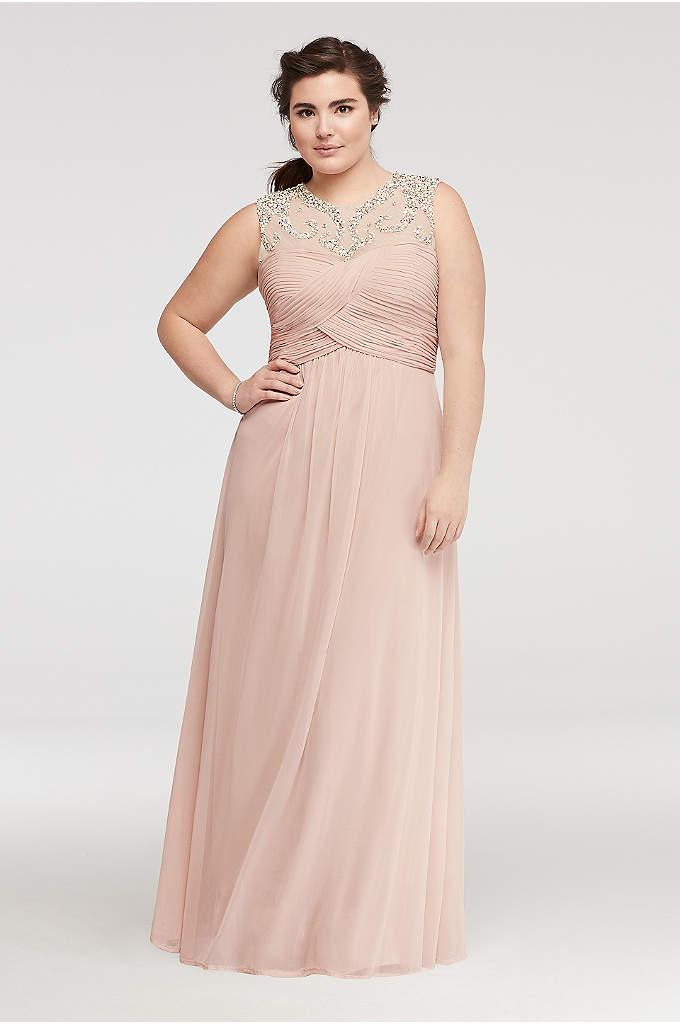 Sleeveless Mesh Prom Dress