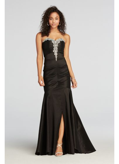 Long Mermaid/ Trumpet Strapless Prom Dress - Blondie Nites
