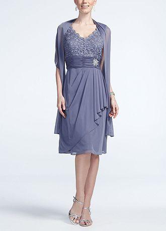 Sleeveless Lace Bodice Jersey Dress