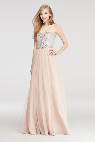 Beaded Strapless Gowns