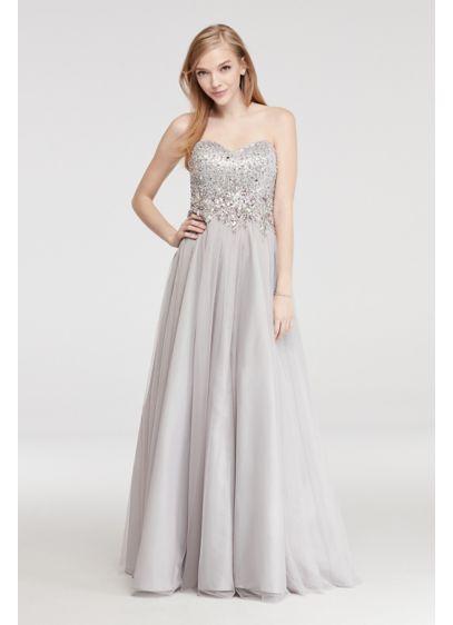 Long Ballgown Strapless Quinceanera Dress - Blondie Nites