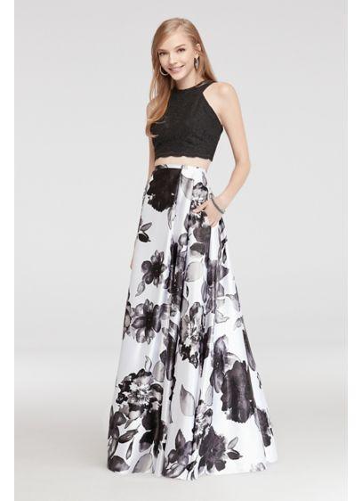 Long Ballgown Halter Daytime Dress - Blondie Nites